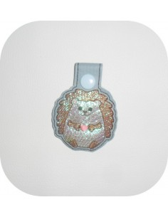 machine embroidery design cat mylar keychains ith