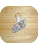 machine embroidery design dream Catcher mylar keychains ith