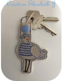 machine embroidery design horse  mylar keychains ith