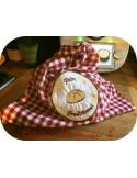 Motif de broderie machine  boule de pain traditionnel