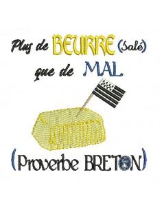 Motif de broderie machine beurre salé de Bretagne