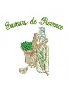 Instant download machine embroidery rosé wine of provence