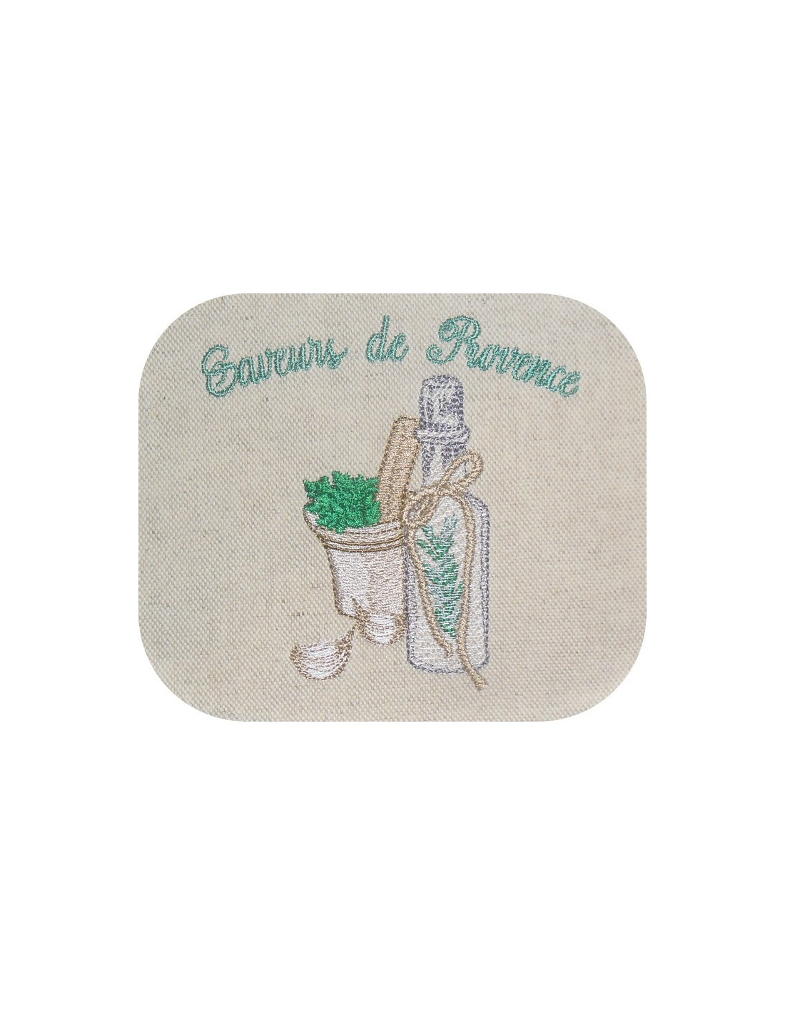 embroidery design olive oil provence