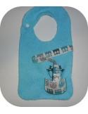 machine embroidery design  bib tie pacifier deer