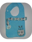 machine embroidery design  bib tie pacifier deer