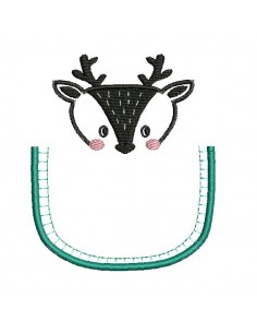 machine embroidery design deer