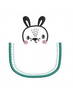 machine embroidery design rabbit