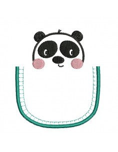 machine embroidery design panda