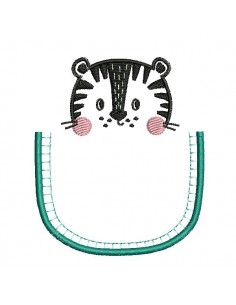 machine embroidery design tiger