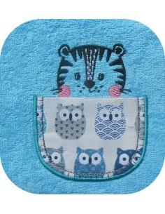 machine embroidery design 7 animals