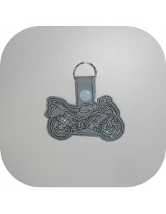 machine embroidery design  road bike  mylar keychains ith