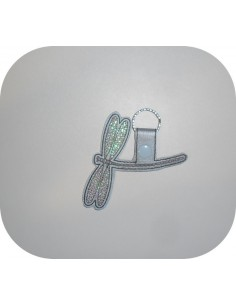 machine embroidery design  dragonfly mylar keychains ith