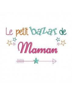 Embroidery design super mum