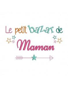 Motif de broderie  bazar de maman
