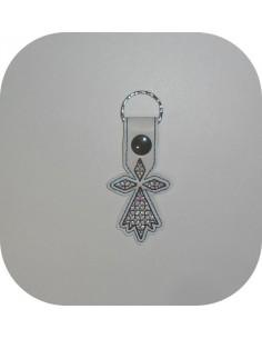 machine embroidery design  hermine brittany mylar keychains ith