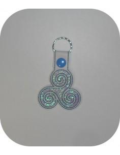 machine embroidery design  triskel mylar keychains ith