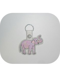 machine embroidery design elephant mylar keychains ith