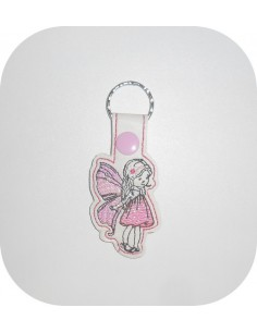 machine embroidery design fairy mylar keychains ith