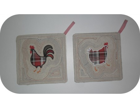 Instant download machine embroidery rooster applique