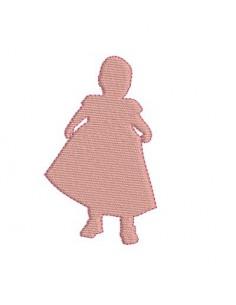 Motif de broderie bébé fille