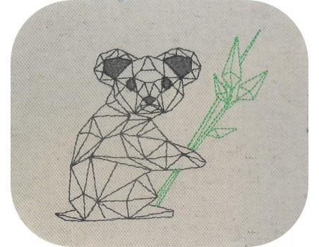 Motif de broderie machine koala origami
