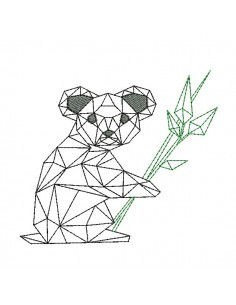Instant download machine embroidery design koala