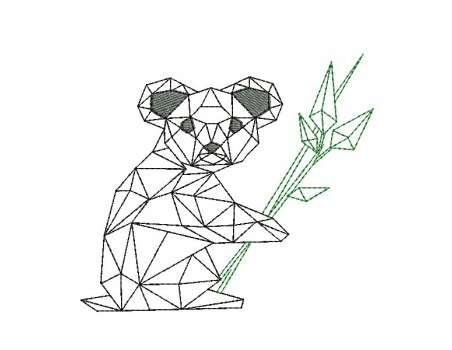 Instant download machine embroidery design panda