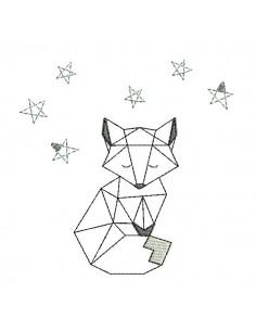 Motif de broderie machine renard origami