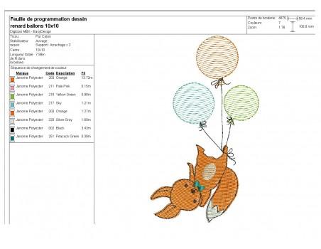 embroidery design machine little fox applique