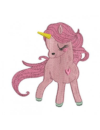 Instant download machine embroidery design baby Unicorn