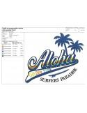 Motif de broderie machine   aloha