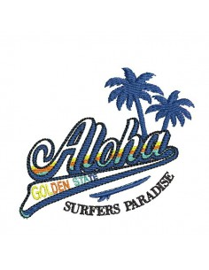 Instant download machine embroidery pineapple  flamingo aloha