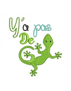embroidery design  chameleon