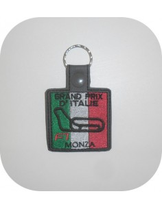 machine embroidery design  F1 Belgium racing circuit keychains ith