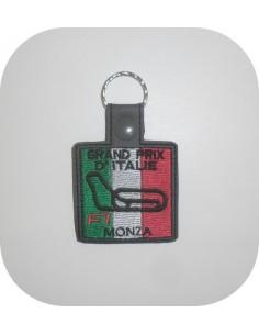 Motif de broderie machine porte clé circuit Italie ITH