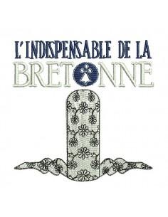 Motif de broderie machine coiffe de la bretonne