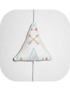 machine embroidery design  tipi for mobile child  ith