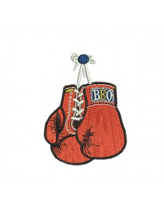 Motif de broderie machine gants de boxe