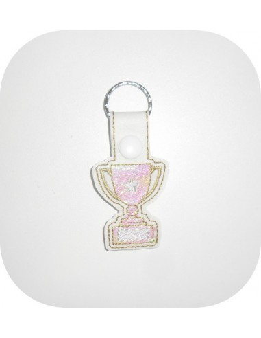 machine embroidery design champion cup mylar keychains ith