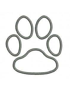 Motif de broderie machine appliqué patte de chien