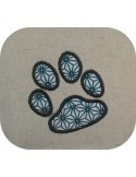 Instant download machine embroidery heart paws