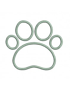Instant download machine embroidery applique cat paw