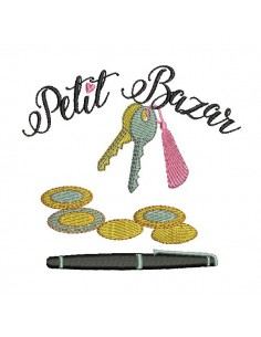 Instant download machine embroidery design empty  pockets