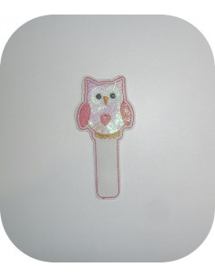 Instant dowload Embroidery design ITH bookmark owl