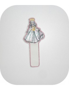 Instant dowload Embroidery design ITH bookmark princess