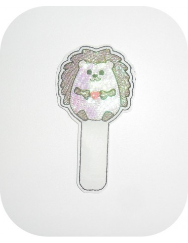 Instant dowload Embroidery design ITH bookmark cow