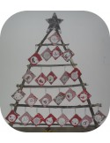 embroidery design  ITH Advent calendar