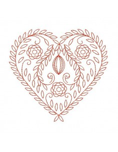 Instand dowload Embroidery design Decorative alsatian heart