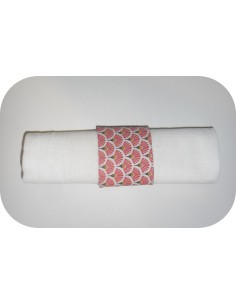 Instant dowload embroidery design  machine napkin ring ITH