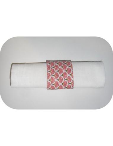 motif de broderie machine  rond de serviette ITH